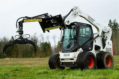 "Valby Skid Steer Log Grapple 36"" - Material Handling Grapple Attachment CLOSEOUT"