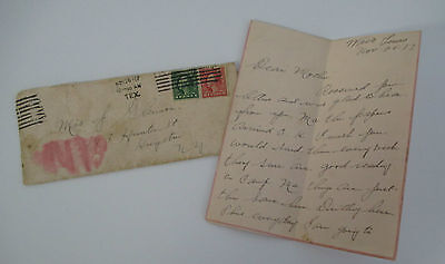 1917 WWI Letter and Cover from Fort MacArthur, Waco,Tx to Kingston, NY home