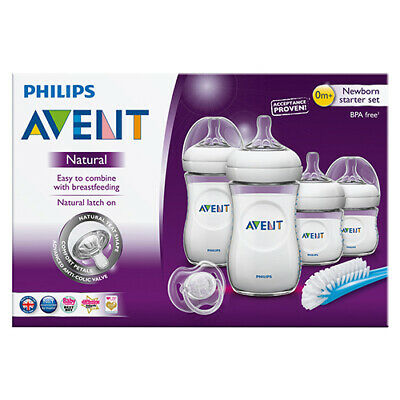 NEW Avent Baby Feeding Bottle Natural Newborn Starter Set Feeding Bottles