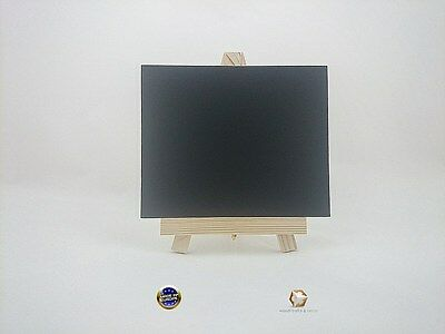 MINI WOODEN EASEL 19 cm (7.5'') WITH CHAIN AND LAMINATED BLACKBOARD