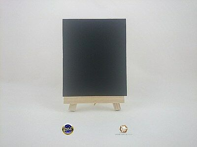 MINI WOODEN EASEL 16 cm (6'') WITH CHAIN AND LAMINATED BLACKBOARD