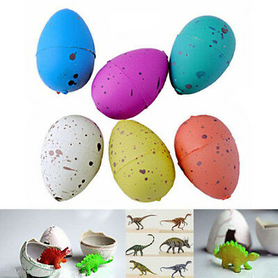 Magic 6PC Dino Eggs Growing Hatching Dinosaur Add Water Child Inflatable Kid Toy