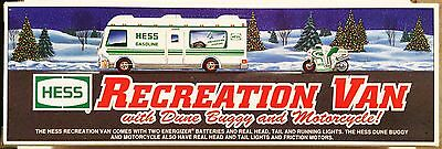 1998 Hess Recreation Van With Dune Buggy And Motorcycle - New In Box