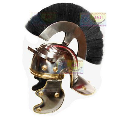 Medieval Roman Centurion Helmet w/ Leather Liner, Best for Larp Sca Re-enactment