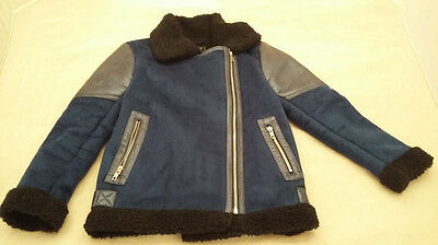 Girl's blue zip up jacket. Age 9-10 years / 140cm.