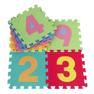 10Pcs Large 0-9 Numbers Baby Children Play Mat Soft Foam Jigsaw Learning Puzzle