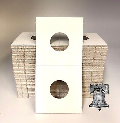 300 Dime Mylar Cardboard Coin Holder 2x2 Flip BCW 18mm Paper Storage Flips Case