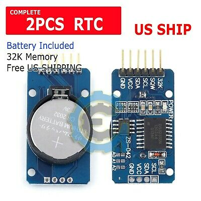 2X DS3231 AT24C32 IIC  precision Real time clock RTC memory module For Arduino