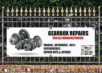 Outdoor Gearbox Repairs All Makes  Banner Garage Sign Advert Free Art Work