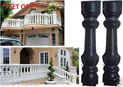 *set Of 2* Concrete Mould Garden Balustrade Pillar Post Pedestal Paving Decking