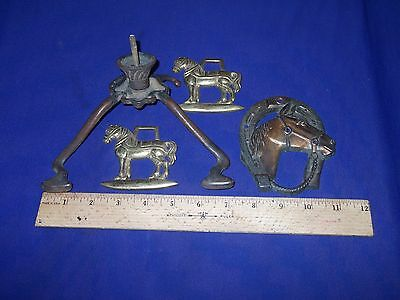 4 piece vintage bronze /brass ornaments [ 4 pieces for $40 ] • CAD $50.40