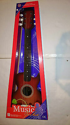 New Children Acoustic Guitar With Strings Musical Instrument Toy Game For Kids