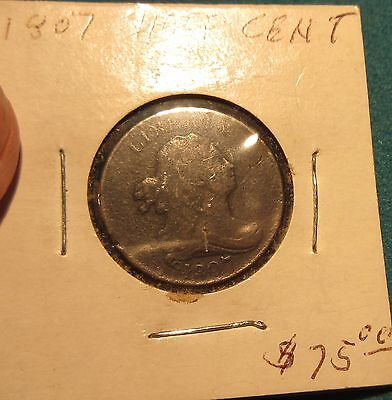 1807 Half Cent Diagonal 1 on 7