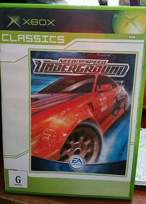 Need For Speed Underground MICROSOFT XBOX - FREE POST
