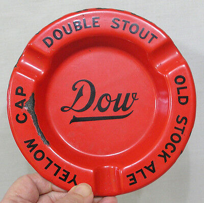 Vintage Granite Ware Dow Double Stout Ale Ashtray Agateware