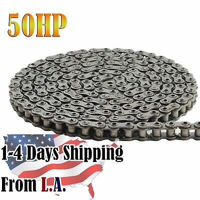 #50HP Hollow Pin Roller Chain 10 Feet with 1 Connecting Link