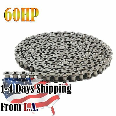 #60HP Hollow Pin Roller Chain 10 Feet with 1 Connecting Link