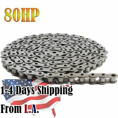 #80HP Hollow Pin Roller Chain 10 Feet with 1 Connecting Link
