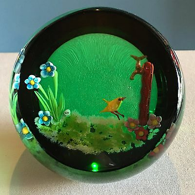 """Rare Caithness """"Pit Stop"""" Duck at Water Fountain Paperweight New In Box"""