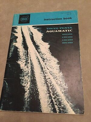 Volvo Penta Aquamatic Boat Engine & Outdrive Instruction Book, 48 Pg~VGC~1968