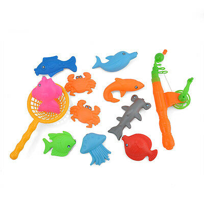 Baby Child Kids Magnetic Fishing Rod+10 Fish Model Educational Toy Fun Game Gift