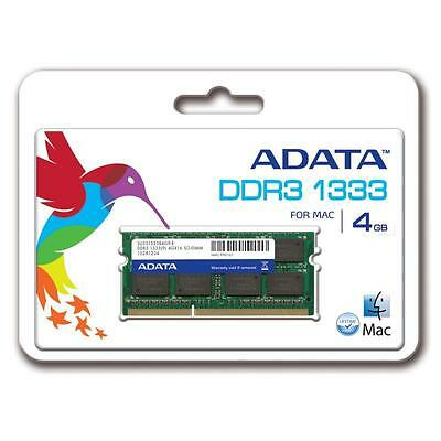 ADATA 4G 4GB DDR3 1333 MHz PC3-10600 RAM SO-DIMM Memory for Mac Macbook or Pro