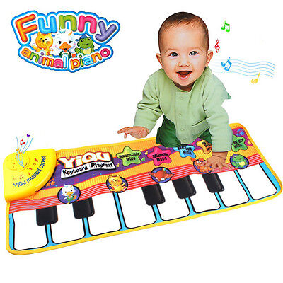 Multifunction Baby Kids Touch Play Piano Keyboard Music Carpet Mat Toy Best Gift