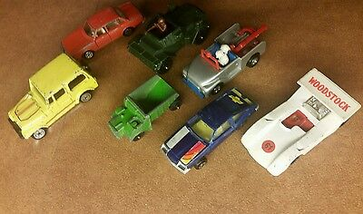 7x 1958+ Vintage Yatming Kidco Aviva Zylmex Mixed Cars Vehicles Lot Collection