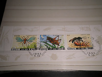 "Korea 1993 ""insects"" Used Block (Cat.8)"