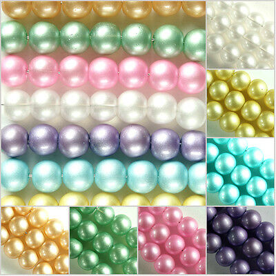 Round~Glass Beads~Choose Colour~Or~Size, Hole~1.5 Mm