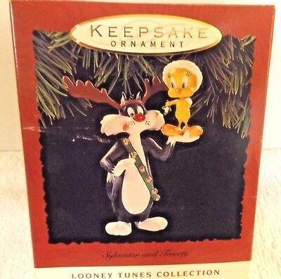 Sylvester & Tweety Bird  Ornament / Hallmark Keepsake / Looney Tunes  1993 - NIB