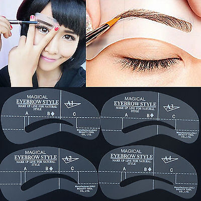 6er Sets Augenbrauen Schablonen Eye Brow Shaping Makeup Eyebrow Stencil Mode