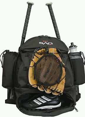 New! Quality Youth Baseball / Softball Backpack Bag holds bats cleats drinks