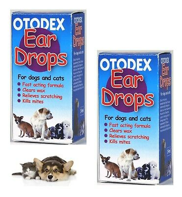 Otodex Veterinary Ear drops for Dog Cat Pet Cleaner Relief Wax Mites 14 ml