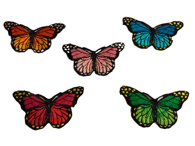 Iron on Embroidery Butterfly Patch Badge UK SELLER