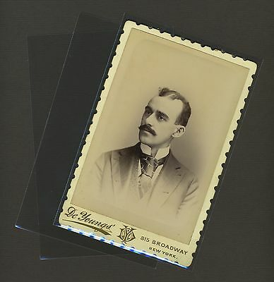 100 Cabinet Card Photo Sleeves Pack Clear Poly Archival Safe