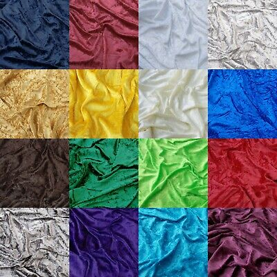 "Premium Crushed Velvet Fabric Dress Craft Stretch Velour Material 150cm 59"" Wide"