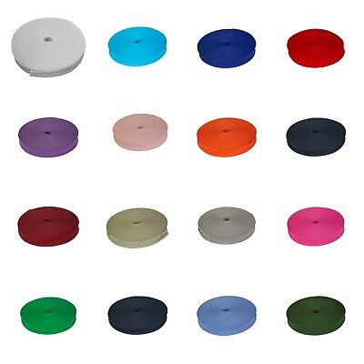 """Cotton Bias Binding Tape 1"""" 1/2"""" Inch 25MM 13MM Craft Various Colours Full Reel"""
