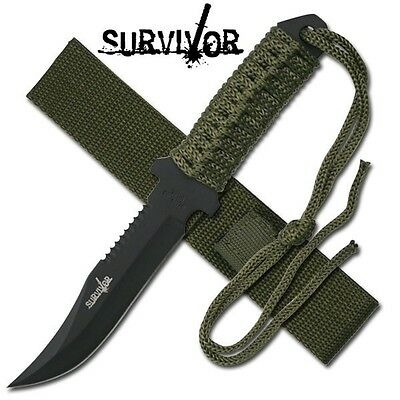 3  Awesome Knives -   Full Tang  Knife + Large  Hunting Knife + Spring Assist