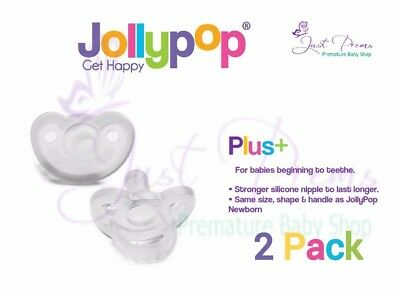 Jollypop Dummy~ the new gumdrop ~3 month plus Clear 2 pack