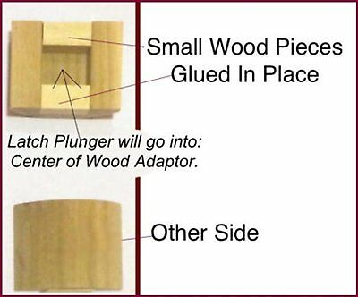 Retrofit Wood Adapters: fit your Antique Door Knobs in modern doors.