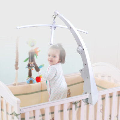 DIY Baby Kid Music Rotate Bed Crib Mobile Bell Toy Holder Arm Bracket Nursery