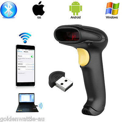 Wireless Bluetooth Barcode Scanner Code Reader For Apple IOS Android Windows 7/8