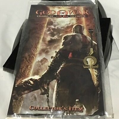 God of War Chains of Olympus Omega Pendant Collectors Item Necklace