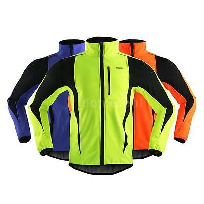 ARSUXEO Winter Cycling Jacket Warm Up Windproof Water-resistant Soft Coat 49ON