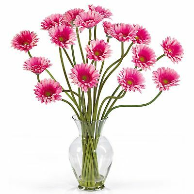 "21"" Gerbera Daisy Silk Flower Arrangement -Pink"