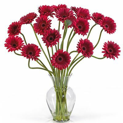 "21"" Gerbera Daisy Silk Flower Arrangement -Red"