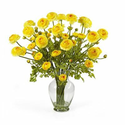 "24"" Ranunculus Silk Flower Arrangement -Yellow"