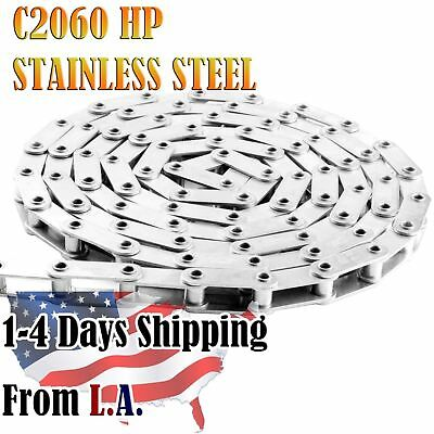 #C2060HPSS Stainless Hollow Pin Conveyor Chain 10 Feet with 1 Connecting Link