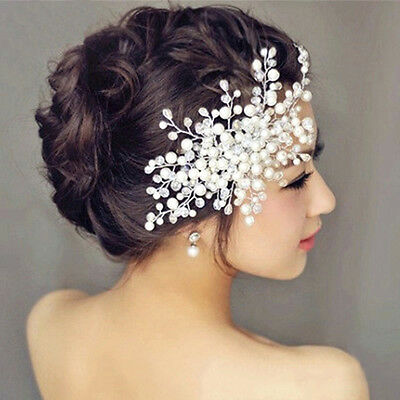 New Headband Vintage Bridal Wedding Jewelry Hair Comb Acessory Headpiece Pearl